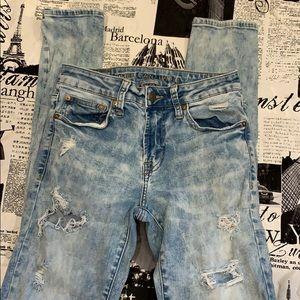 AE skinny distressed jeans